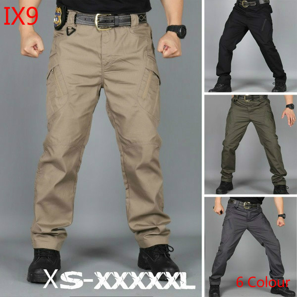 IX9  S-5XL Tactical Military Cargo Pants  Combat Multi-pockets  Military Army Pants  Men's Flexible  Cotton Trousers