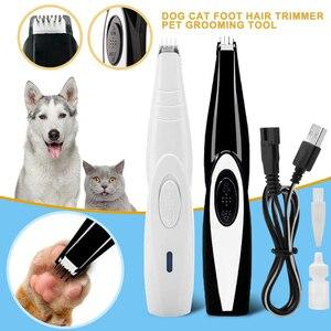 Cortadora de pelo para perros y gatos, recortadora de uñas para mascotas, cortadora eléctrica para gatos, máquina de afeitar recargable por USB