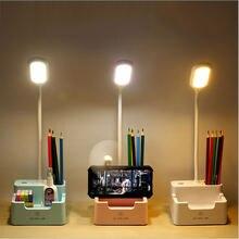 Настольная лампа светодиодная перезаряжаемая с сенсорным затемнением