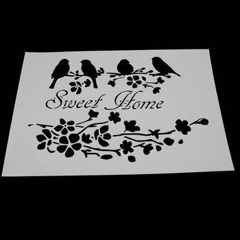 1pc Stencils Bullet Journal GThrush Bird Painting Template DIY Embossing Stencils Accessories For Scrapbooking Stencil Reusable 1pc stencils bullet journal gthrush bird painting template diy embossing stencils accessories for scrapbooking stencil reusable