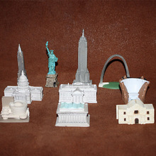 American Landmark Building Miniature Model Empire State Building White House Parliament Building Statue of Liberty Figurine Toys