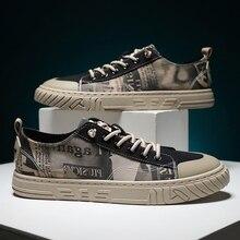 VastWave zapatillas de tela de lona para hombre, zapatos masculinos informales de lujo, antideslizantes, vulcanizados, de estilo otoñal
