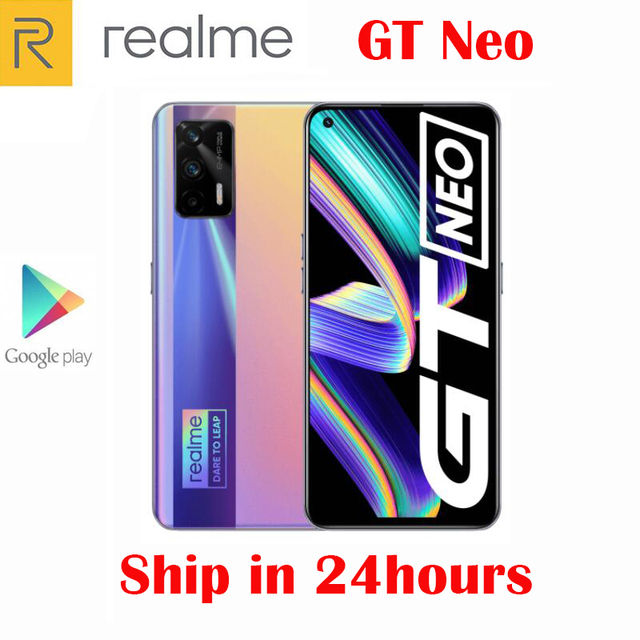 Original Official New Realme GT Neo 5G Smartphone MTK1200 6.43inch 120Hz Super AMOLED 64MP Camera NFC 4500Mah 50W Flash Charger 5