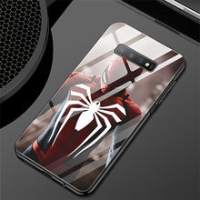 Marvel Glas Case Voor Galaxy S8 9 Plus Note 8 9 Spiderman Captain America Iron Man Cover Voor Galaxy S10 plus Note10 Pro Coque(China)