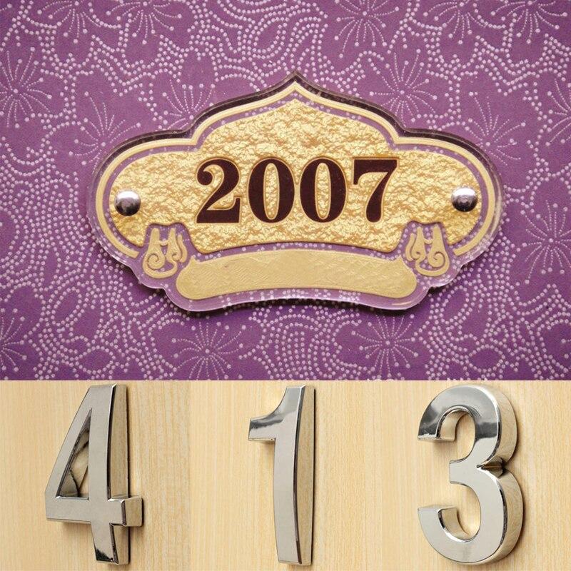 1 шт. 3D самоклеящийся дверной знак, номер дома, цифры, квартира, гостиница, офис, адрес двери, уличный номер, наклейки, табличка, знак
