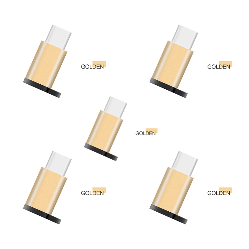 1/5 Pcs Micro USB To Type-C USB Adapter Converter Data Cable Adapter For Xiaomi Redmi K20 Huawei P20 30 Samsung HTC  One Plus 7