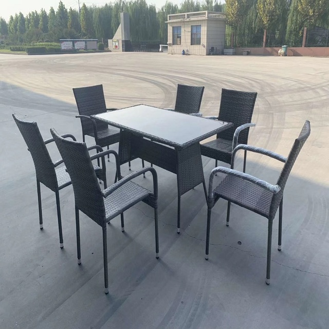 Outdoor Garden Rattan Tables and Chairs  2