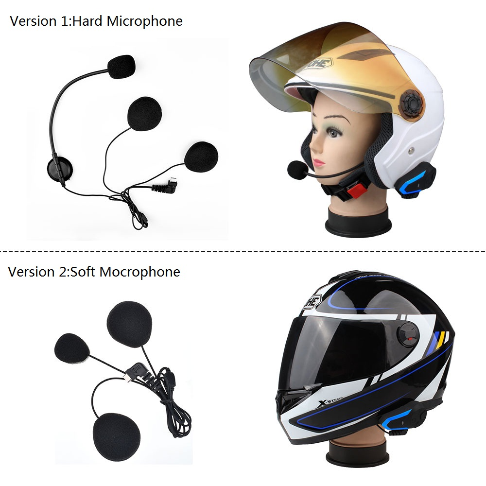 Fodsports 2 pcs BT-S3 Motorcycle Helmet Intercom Moto Helmet Bluetooth Headset Waterproof Intercomunicador BT Interphone FM