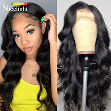 Nicelight Brazilian Body Wave 100%Human Hair Wigs 13x4 Front Lace