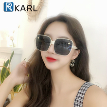 Fashion Women Sunglasses Retro Square Bee Oversized KARL Brand Designer Gradient Shades Sunglass Ladies