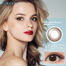 Sincere-vision Brand 10 lenses Colored Lens 0-900 Myopia Contact Lenses Round Eye Lenses For Eyes Durable Eyeball Contact Lens
