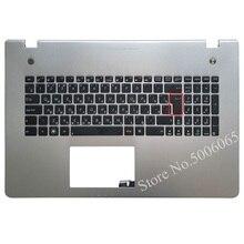 New Russian Keyboard for Asus N76 N76VB N76VJ N76VM N76VZ RU Laptop keyboard  with Palmrest Upper cover