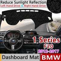 for BMW 1 Series 2012 2013 2014 2015 2016 2017 F20 Anti Slip Mat Rose Pattern Dashmat Dashboard Accessories 116i 118i 120i 125i