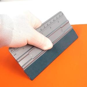Image 2 - FOSHIO 3/5 sztuk winylowa folia samochodowa skala zamszowe gumowa ściągaczka skrobak z włókna węglowego narzędzie do pakowania akcesoria samochodowe folia zaciemniająca okna narzędzie