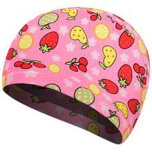 Детская эластичная шапочка для плавания унисекс из полиэстера с мультяшными фруктами и цветными животными, противоскользящая Защитная спортивная шапочка для плавания ming