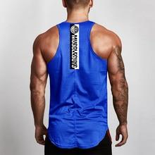 Workout Vest Tank-Top Singlets Undershirt Mesh Gym Fitness Bodybuilding Stringer Cotton