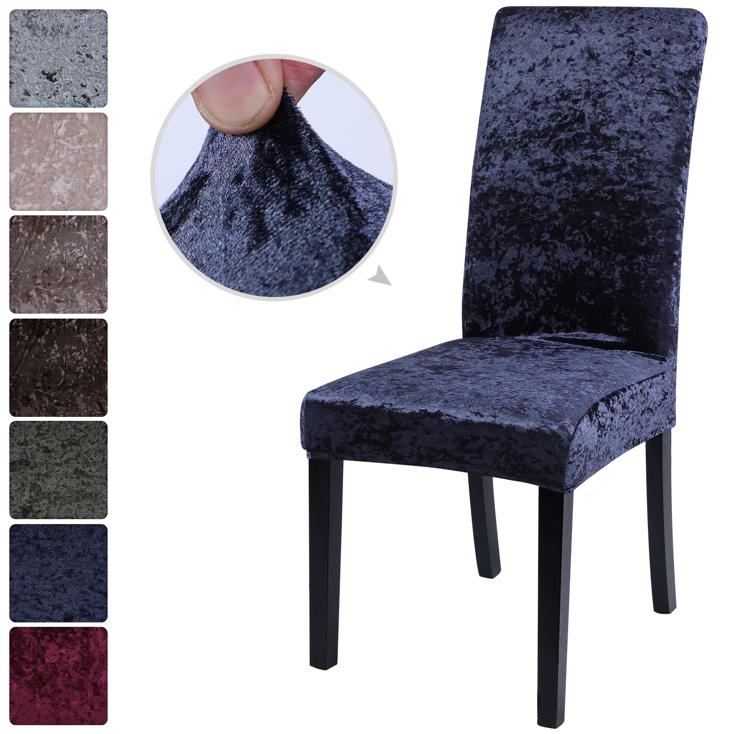 Hearty Junejour   Elastic Dining Chair Velvet Anti-dust Cover Stretch Slipcovers Protect Home Furniture Decor 1/2/4/6pc For Dining Room Sophisticated Technologies