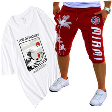 цена на Popular anime new T-shirt homme blood youth free print T-shirt fashion brand clothing hip-hop men's T-shirt funny top men2020