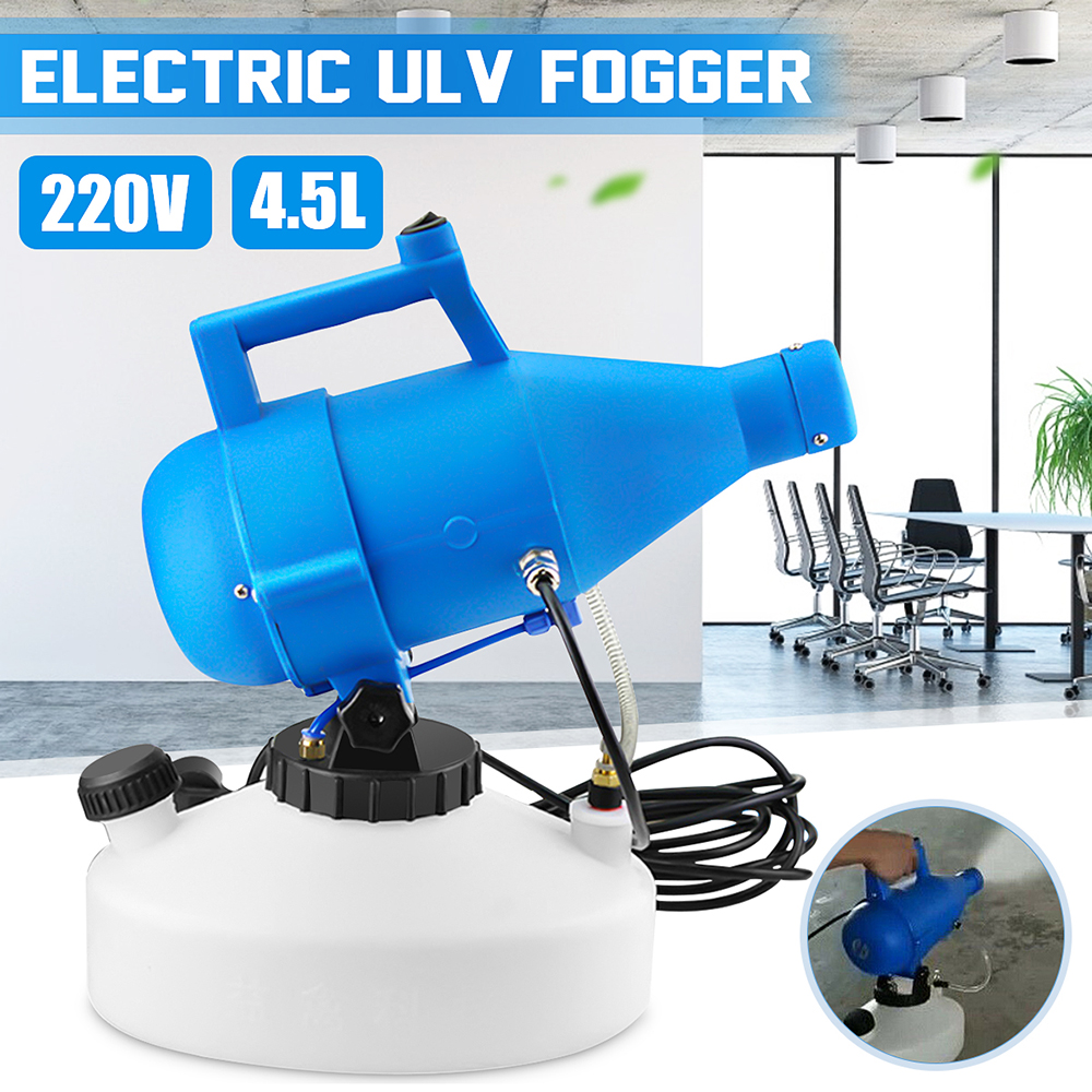 110V/220V 4.5L Electric ULV Fogger Sprayer 1400W Portable Hotels Residence Community Office Industrial Disinfection  Sterilizat