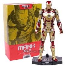 Jouet tendance Iron Man Mark XLII MK 42 XLIII 43, avec échelle lumière LED 1/6 en PVC, modèle de collection