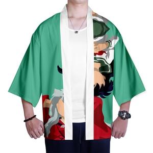 Image 5 - Japanese kimono Inuyasha Mens Womens Wear 3D Kimono Traditional Clothing Fashion Popular Family Casual Wear Comfort Tops
