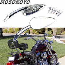 Mirrors-Cruiser Rearview Softail Motorcycle-Side Sportster Harley Universal Custom Skull