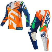 2019 NAUGHTY Fox MX 360 Divizion набор передач для мотокросса ATV Dirt Bike внедорожные гоночные штаны и Джерси комбо оранжевый