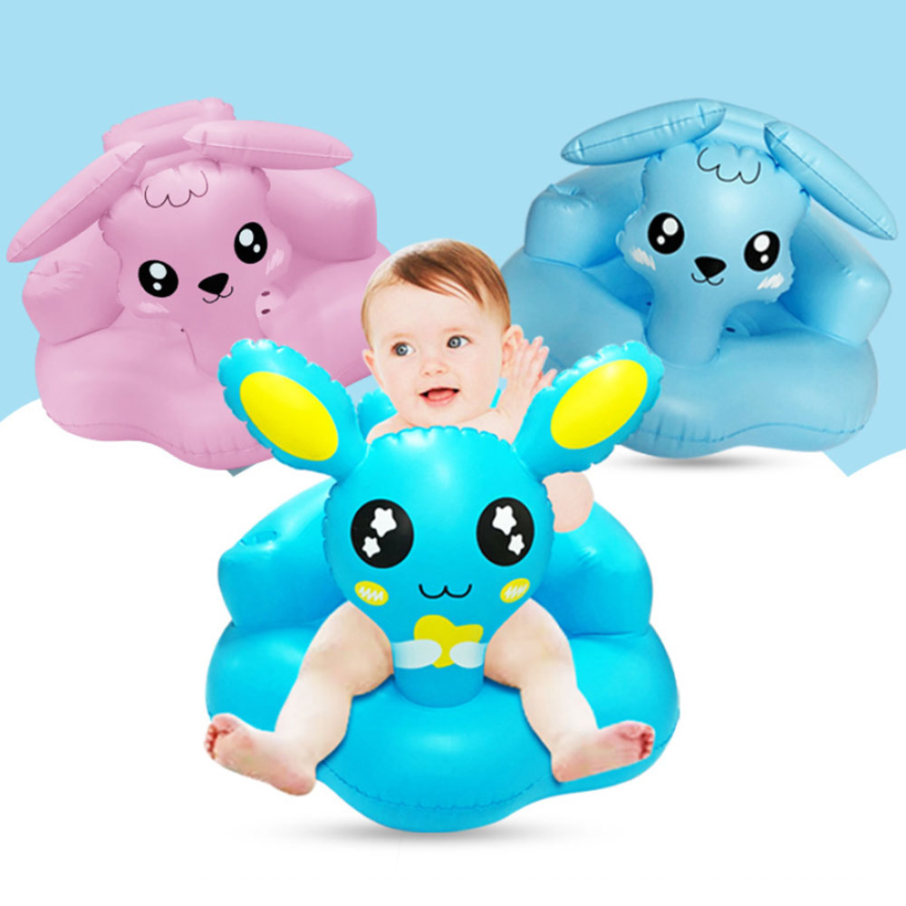 Multifunctional Baby Kids Inflatable Sofa Support Seat Cover Bathroom Play Water Pool Seat Learning Chair Portable Foldable Seat