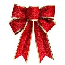 1 шт. большой бант-узел Рождественская елка подвесное украшение для домашнего декора DIY Украшение