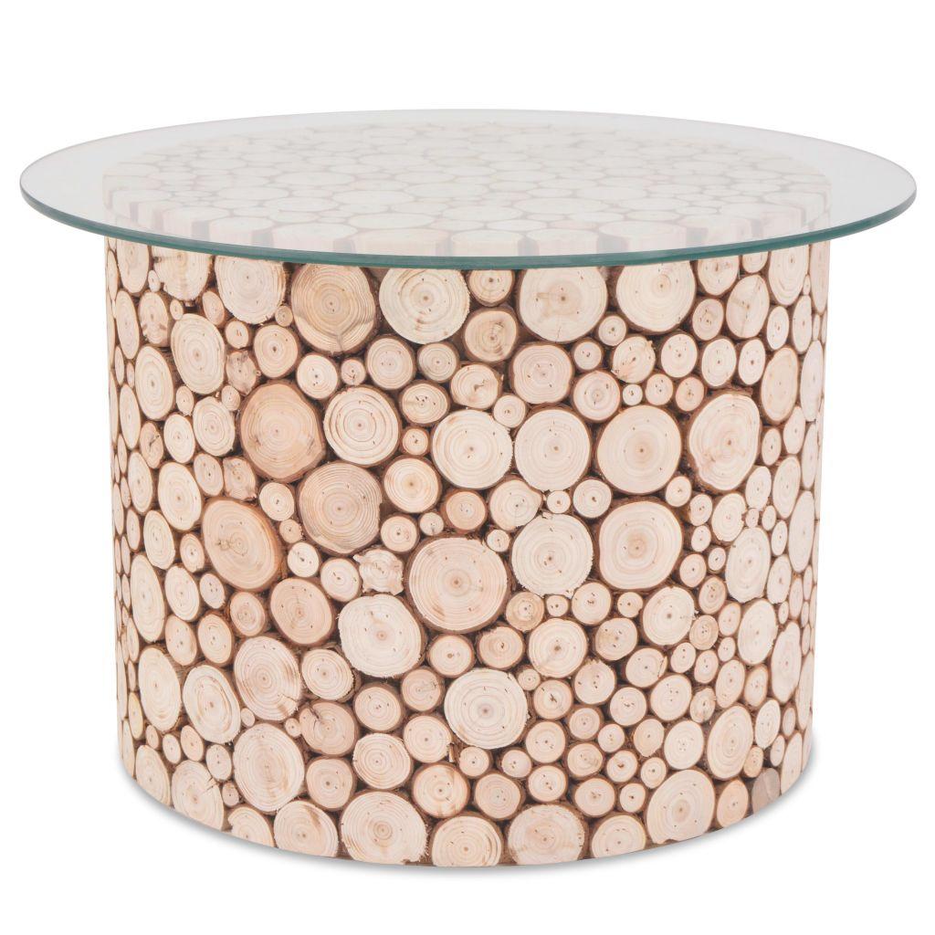 VidaXL Coffee Table Genuine Wood 60.5x40 Cm