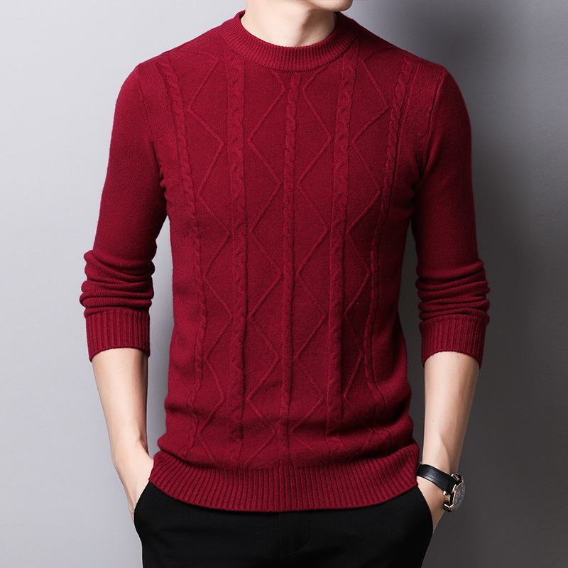 2019 Cashmere Sweater Men Clothes Autumn Winter Thick Warm Wool Pullover Men Casual Zipper Turtleneck Pull Homme Knit Shirts