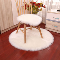 Sholisa Faux Fur Area Rug Fluffy Carpet Round Shape 6cm Pile Fluffy Carpet for  Living Room Bedroom Home Deco Tapetes Vloer|Rug| |  -