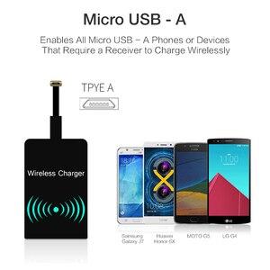 Image 2 - Qi стандартная беспроводная зарядная катушка приемник Pad универсальный модуль адаптера для iPhone 5 6 7 Samsung Huawei Micro USB Type C Телефона