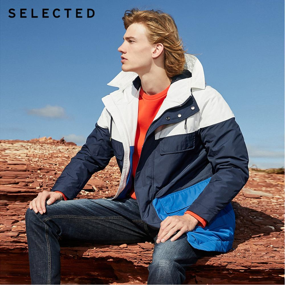 SELECTED Men's A/W Mid-length Hooded Parka Coats Assorted Colors Cotton Jacket Clothes S | 419322502