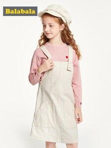 Image 4 - Balabala детская одежда, платье для девочек, хлопковое платье, новинка 2019, осеннее платье, вельветовое платье на бретельках для принцессы