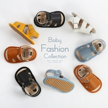 Summer Baby Shoes Infant Boy Girl PU Sandals Breathable Soft Soled Hollow Design Sandal Toddlers First Walkers Shoe