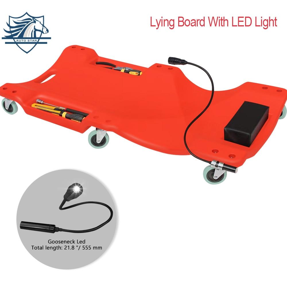 40 Inch Car Repair Lying Board With LED Light Skateboard Spare Parts Repair Board Car Vehicle Service Maintenance Tool
