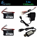 Обновленный LiPo аккумулятор 7 4 В 1300 мАч + зарядное устройство для Wltoys V353 A949 A959 A969 A979 k929  аккумулятор дрона для радиоуправляемых автомобилей  ве...