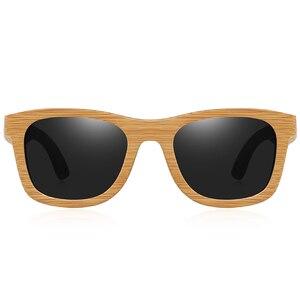 Image 5 - BARCUR 레트로 남자 선글라스 여성 편광 선글라스 대나무 수제 나무 선글라스 비치 나무 안경 Oculos de sol
