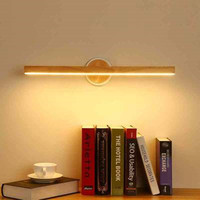 LED Wall Lamp For Bedroom Modern Mirror Lights Wooden Wall Sconce Wood Luminaira Bedside Lights Wall Mount Reading Light