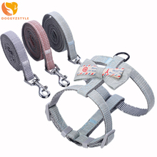 Cat Harness And Leash Set Adjustable Dog Traction Belt Cute Bow Kitten Puppy Vest Walking Lead Leashes