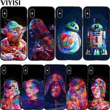 Star Wars Phone Case For iPhone 7 case iPhone X XS XR MAX 8 6 6S Plus 5 5s SE Etui Funda Coque Black Soft Silicone TPU Cover чехол для iphone 5 iphone 5s iphone se deppa art case star wars изгой вейдер 2