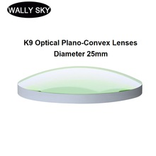 K9 Optical Plano-Convex Lenses Uncoated BK7 Spherical Convex Lens Diameter 25mm Optical Experiment Focusing Lens Experiment Tool
