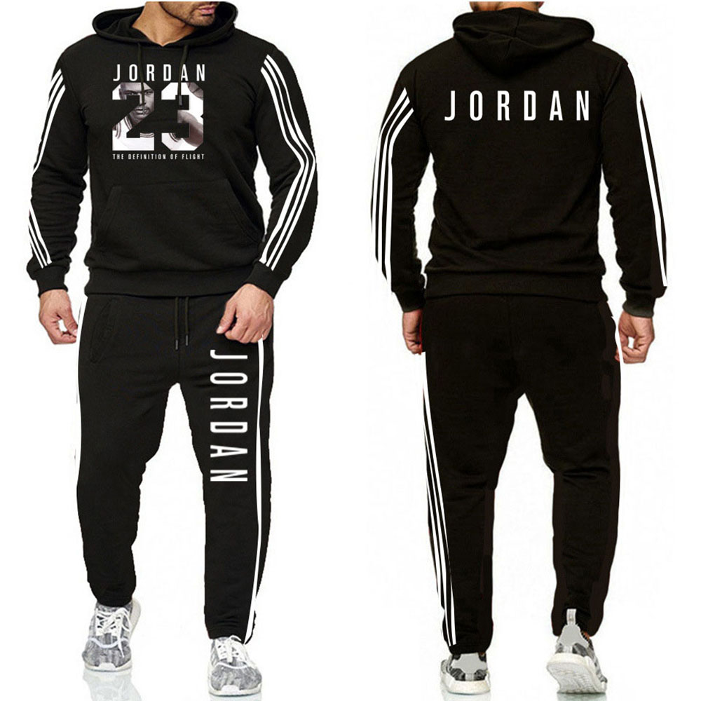 Brand Fashion Patchwork Tracksuit Warm And Velvet Men Sport Set Hoodie Sweatshirt GYMS Fitness Pants Workout Running Suit