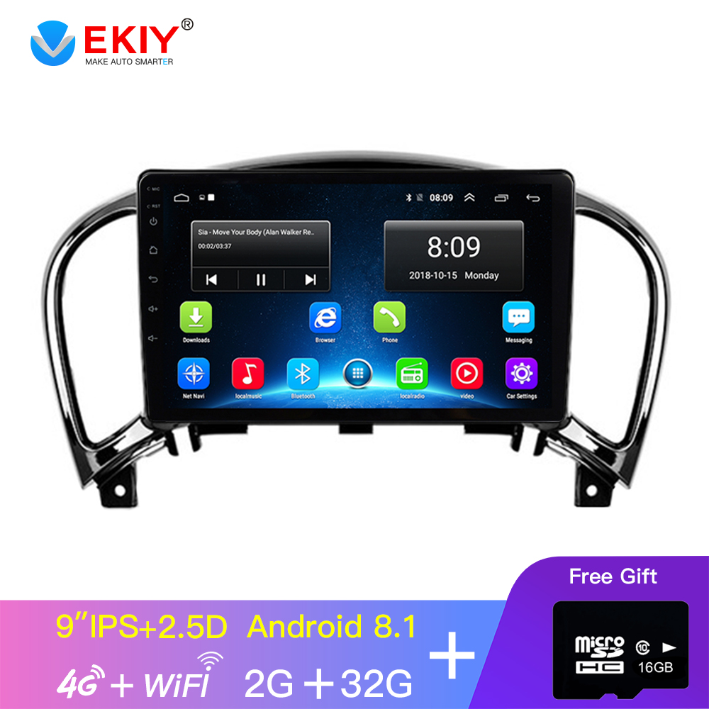 EKIY 9' IPS autoradio Android lecteur multimédia de voiture pour Nissan Juke 2010-2014 Infiniti ESQ Navigation GPS Android 8.1 No 2din