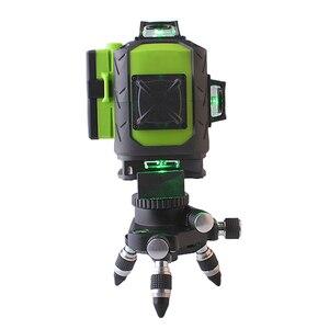 Image 2 - Лазерный уровень Fukuda, зеленый 16 линейный 4d уровень, самовыравнивающийся, 360 горизонтальных и вертикальных пересечений, сверхмощный зеленый лазерный уровень