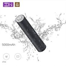 Youpin ZMI LPB02 נייד גבוהה כוח פנס 5000mAh כוח בנק IPX6 Waterproof חירום SOS חיצוני גבוה כוח אור