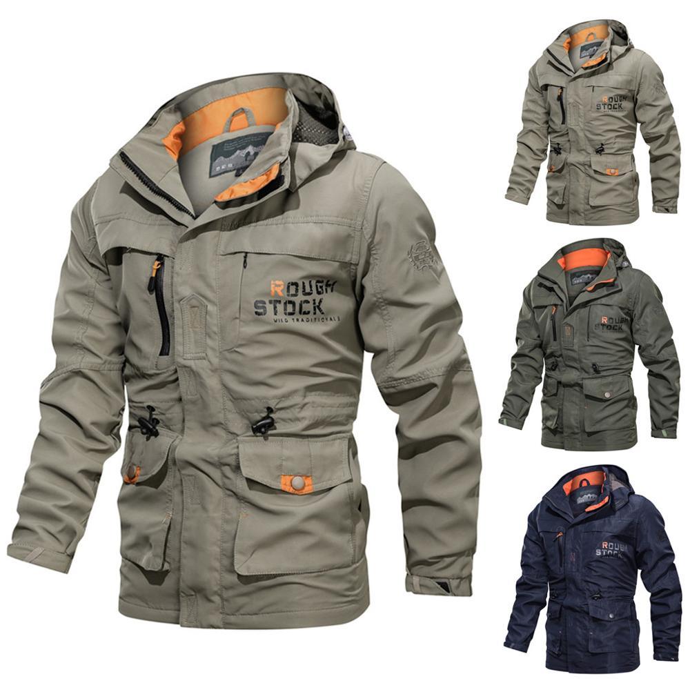 2020 Spring Outdoor Sports Waterproof Jacket Men Hunting Windbreaker Ski Coat Hiking Rain Camping Fishing Tactical Clothing