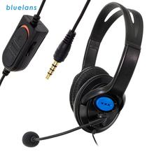HD Stereo Mic 3.5mm Wired Noise Isolation Volume Control Game Headset For Gaming Live Webcam Headphone For Laptop Computer