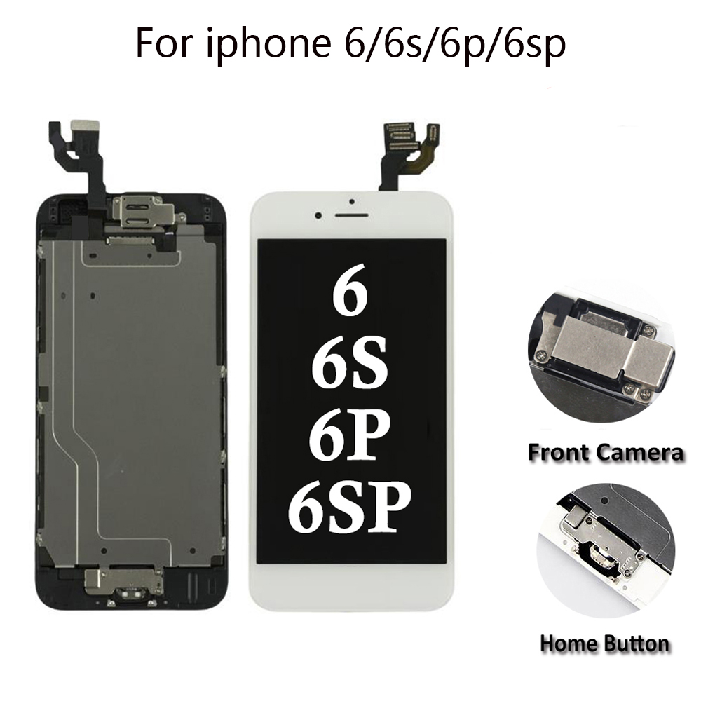 Full Assembly LCD for <font><b>iPhone</b></font> 5/6/<font><b>6s</b></font>/6P/6SP LCD Display Touch Screen Digitizer Replacement Full Set <font><b>Ecran</b></font> with Home button+Camera image
